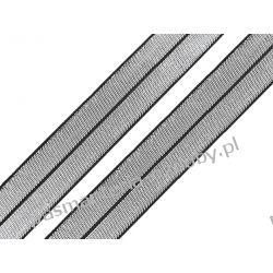 GUMA / lamówka elastyczna 20mm / 1m - czarny-srebrny Rękodzieło