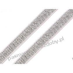 Guma ramiączkowa z lureksem -10mm- srebrna Akcesoria  krawieckie