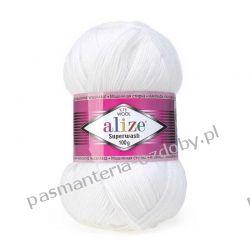 Włóczka Alize Superwash 100 - 100g - biały (55) Rękodzieło