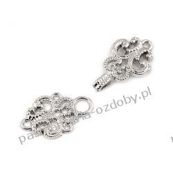 Haftki ozdobne metalowe - srebrne Rękodzieło