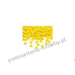Koraliki szklane - PRECIOSA - rozmiar 6/0 -20g- żółty Szklane zwykłe