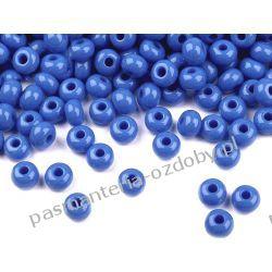 Koraliki szklane - PRECIOSA - rozmiar 6/0 -20g- ciemny błękit Igły, szpilki i agrafki