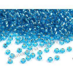Koraliki szklane - PRECIOSA - rozmiar 10/0 -20g- powlekana dziurka - jasny błękit Szklane zwykłe