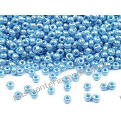Koraliki szklane - PRECIOSA - rozmiar 10/0 -20g- perłowy błękit Szklane zwykłe