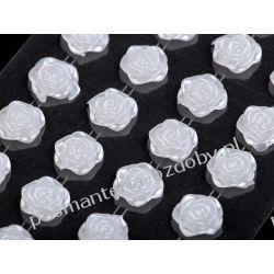 DŻETY Perełki różyczki  samoprzylepne Ø11 mm - biały Scrapbooking