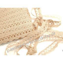 KORONKA KLOCKOWA  bawełniana szer. 18 mm - 1m - beżowy Koronki i hafty