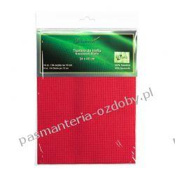 Kanwa (54 oczka /10 cm) 14ct - czerwona - 34x45cm Akcesoria hafciarskie