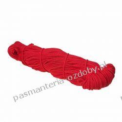 Sznurek pleciony 5 mm - 100m - czerwony Rękodzieło