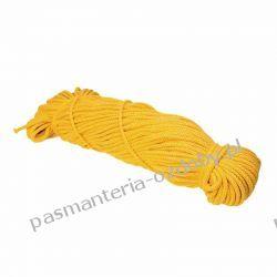 Sznurek pleciony 5 mm - 100m - ciemny żółty Rękodzieło