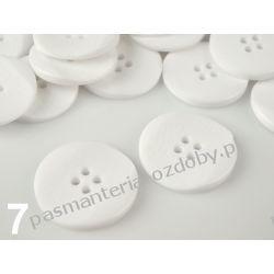 """Guziki CR rozmiar 40"""" (25,4mm) biały 1szt"""