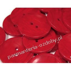 """Guziki perłowe rozmiar 60"""" (38mm) - czerwony Rękodzieło"""