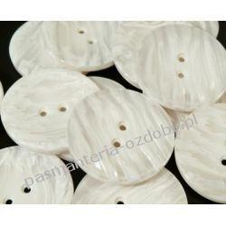 """Guziki perłowe rozmiar 60"""" (38mm) - biały Taśmy i tasiemki"""