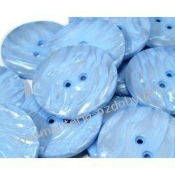 """Guziki perłowe rozmiar 60"""" (38mm) - błękit Rękodzieło"""