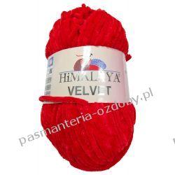 Włóczka Himalaya Velvet - czerwony (90018) Rękodzieło