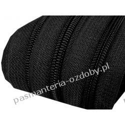 Taśma suwakowa żyłkowa 5mm - czarna