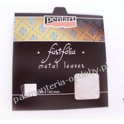 Metal Leaf - folia do złoceń - srebrny Decoupage