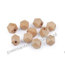 Koraliki drewniane wieloboczne 12x12 mm Druty, szydełka i czółenka