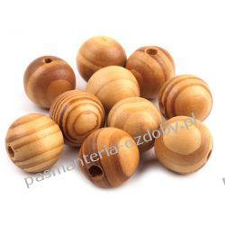 Koraliki drewniane w prążki Ø20 mm - jasny sosnowy Drewniane