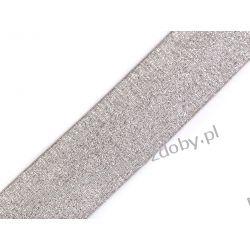 Guma z lureksem - 40mm- szaro-srebrny Zamki i zapięcia