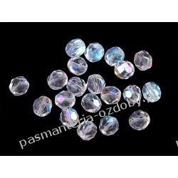 Koraliki szklane - szlifowane - 8 mm - transparentny AB Biżuteria - półprodukty