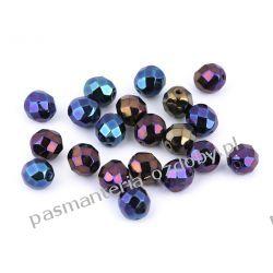 Koraliki szklane - szlifowane - 8 mm - niebiesko-wrzosowe AB Biżuteria - półprodukty