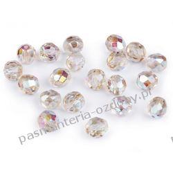 Koraliki szklane - szlifowane - 8 mm - jasnobeżowy AB Biżuteria - półprodukty