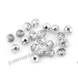 Koraliki szklane - szlifowane - 8 mm - srebrny Biżuteria - półprodukty