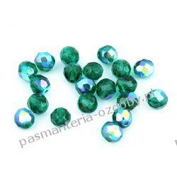 Koraliki szklane - szlifowane - 8 mm - zielony AB Biżuteria - półprodukty