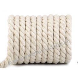 Sznurek bawełniany skręcany Ø12 mm Rękodzieło