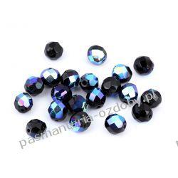 Koraliki szklane - szlifowane - 8 mm - czarny AB Biżuteria - półprodukty