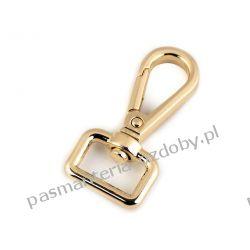 KARABIŃCZYK metalowy 15 mm kol. złoty Biżuteria - półprodukty