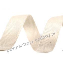 Taśma odzieżowa jodełka - 20mm - ecru Rękodzieło