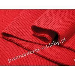 Ściągacz elastyczny bawełna 16x80cm - czerwony Taśmy i tasiemki