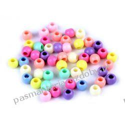 Koraliki plastikowe 8x10 mm Biżuteria - półprodukty