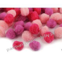 POMPONY, POMPONIKI OZDOBNE duże 2cm - mix (różowy, fiolet) Scrapbooking