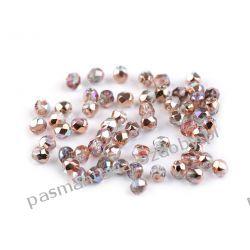 Koraliki szklane - szlifowane - 3 mm - miedziany AB Biżuteria - półprodukty