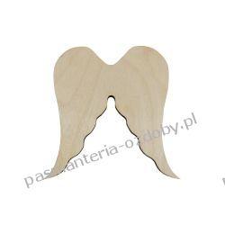 Drewniane skrzydła - anioł - 12x11 cm Pozostałe