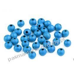 Koraliki drewniane Ø8 mm - niebieski Biżuteria - półprodukty