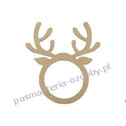 Drewniana głowa - renifer - 6 x 5,2 cm