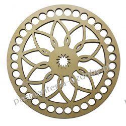 BAZA DO KOSZYKA / TOREBKI wzór średnica 20 cm , otwory 10mm Szycie i dziewiarstwo