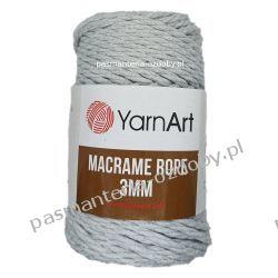 YarnArt - Macrame Rope 3mm - szary (756) Szycie i dziewiarstwo