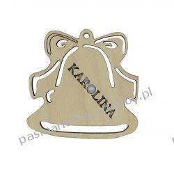 Dzwonek z imieniem (dowolnym) - 6,5 x 6,5 cm Decoupage