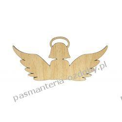 Drewniany anioł - wz. 2 - 10 x 4,5 cm Szycie i dziewiarstwo