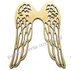 Drewniane skrzydła - ażurowe - 13x11 cm Szycie i dziewiarstwo