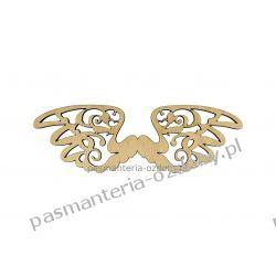 Drewniane skrzydła - ażurowe - wz. 3 -  4 x 12 cm Szycie i dziewiarstwo