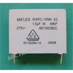 Kondensator WXPC-155M X2 1,5uF