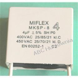 Kondensator MKSP-8 5,0uF Gazowe