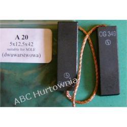 Szczotka węglowa 5x12,5x42 (A20) Pralki