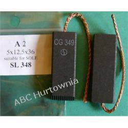 Szczotka węglowa 5x12,5x36 (A2) Pozostałe