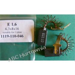 Szczotki węglowe kpl. 6,3x8x16 E1.6 Nieskategoryzowane
